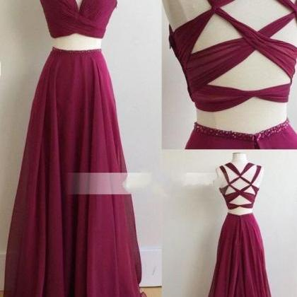 Chiffon Bridesmaid Dress, Fuchsia B..