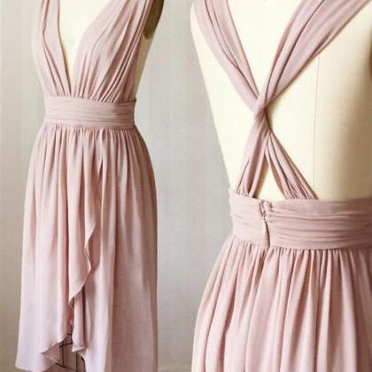 dusty pink bridesmaid dress, high l..