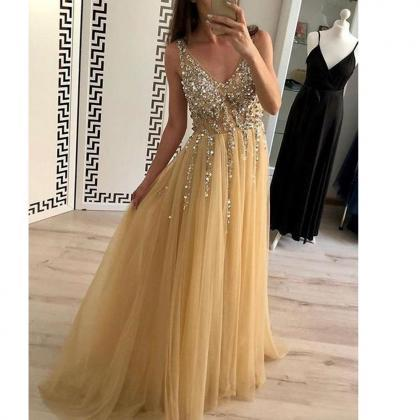 champagne prom dress, prom dresses ..