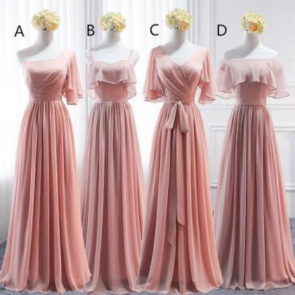 pink bridesmaid dresses, bridesmaid..