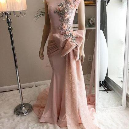 cap sleeve evening dress, pink even..