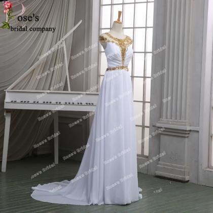 White Evening Dresses, Chiffon Even..