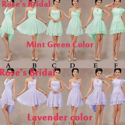 Mint Green Junior Bridesmaid Dresse..