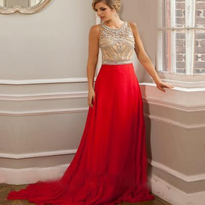 Red Prom Dresses, 2016 Crystal Even..