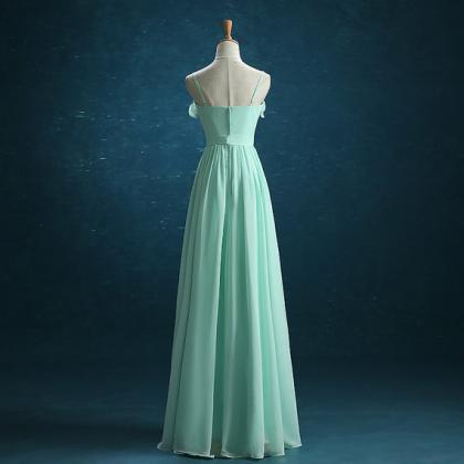 Mint Green Bridesmaid Dress, Chiffo..
