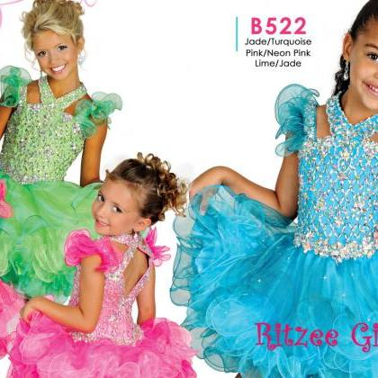 Crystal Little Girls Pageant Dresse..