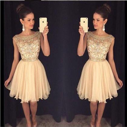 Beaded Homecoming Dress, Short Home..
