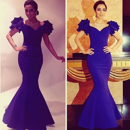 Royal Blue Evening Dress, Long Even..