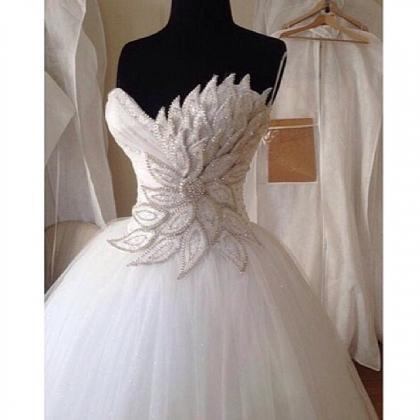 Wedding Ball Gown, Crystals Wedding..
