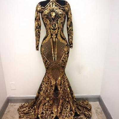 black and gold evening dress, high neck evening dress, luxury evening dress, sparkly evening dress, evening gown, robe de soiree, vestido de festa de longo, elegant evening dress, beaded evening dress, formal dresses