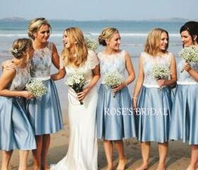 Blue Bridesmaid Dres..