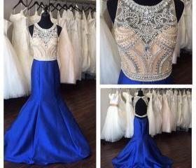 Royal Blue Satin Mer..