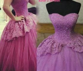 Purple Wedding Dress..