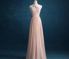 Pink Long Bridesmaid..