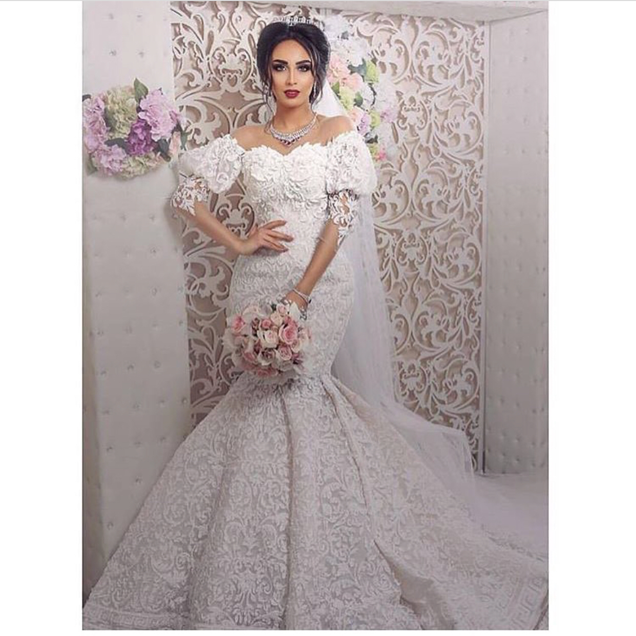 32818e4f31a Saudi Arabic Wedding Dress
