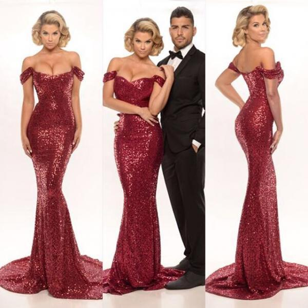 5010e70a9e Burgundy Sequin Bridesmaid Dress