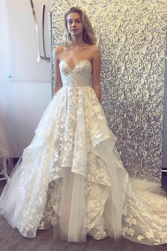 Lace Applique Wedding Dress A Line Wedding Dress Wedding Gown Vestido De Novia Elegant Wedding Dress Cheap Wedding Dress Wedding Dresses 2020