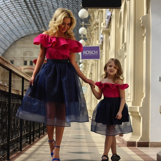 Mother And Daughter Dresses, Red Evening Dresses, Little Girls And ...