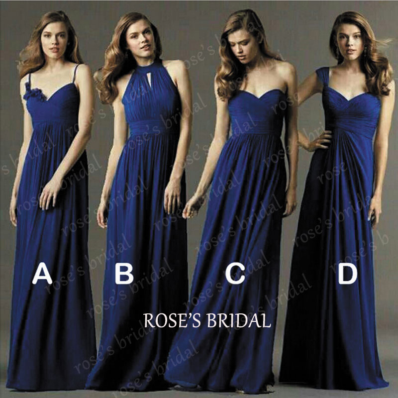 Royal Blue Bridesmaid Dresses, Long Bridesmaid