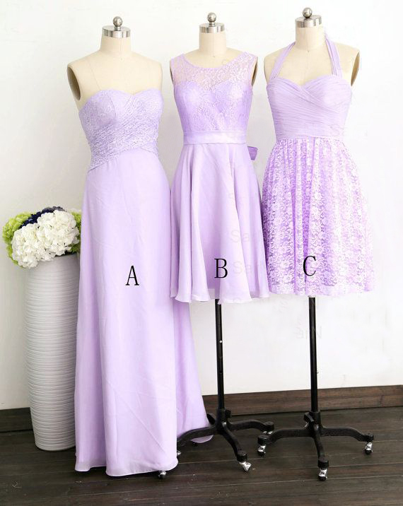 superior quality rich and magnificent sale usa online Mismatched Purple Bridesmaid Dress, Lace Bridesmaid Dress, Cheap Bridesmaid  Dresses, Lavender Bridesmaid Dress, Junior Bridesmaid Dress, Dresses For ...