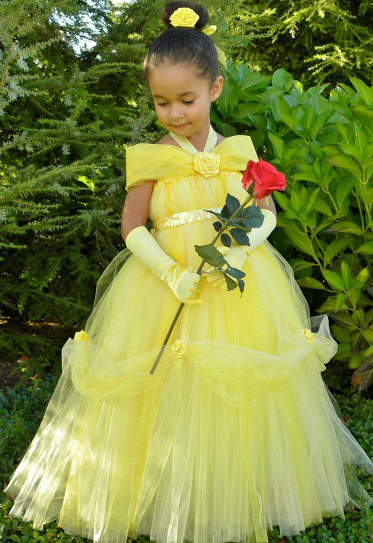 Inexpensive flower girl dresses yellow