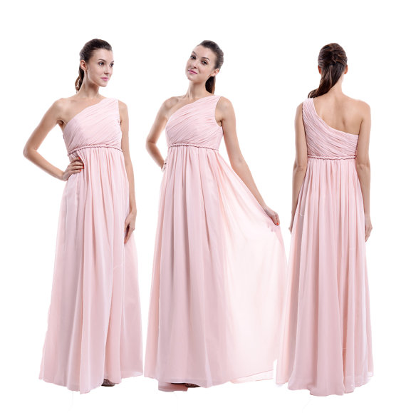 Maternity Bridesmaid Dress Pale Pink Bridesmaid Dress Long