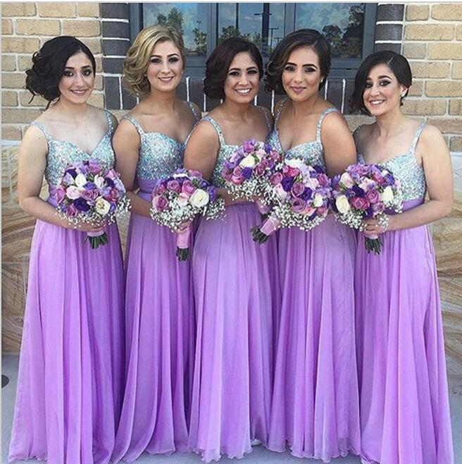Purple Bridesmaid Dress, Sequin Bridesmaid Dresses, Long