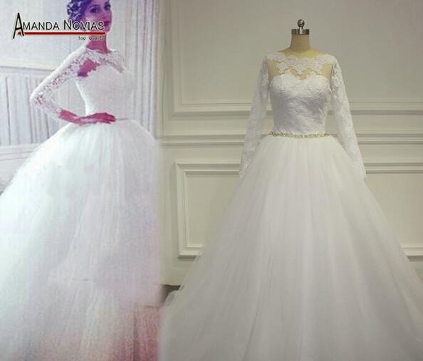long sleeve wedding dress lace wedding dress tulle