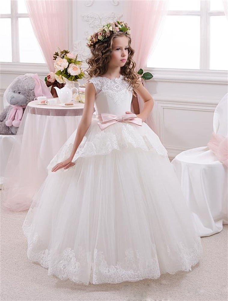 Kids Prom Dresses, Flower Girl Dresses, Lace Flower Girl Dresses, Cheap Flower Girl Dresses, 2016 First Communion Dresses, Tulle Flower Girl Dresses, Pageant Girl Dresses