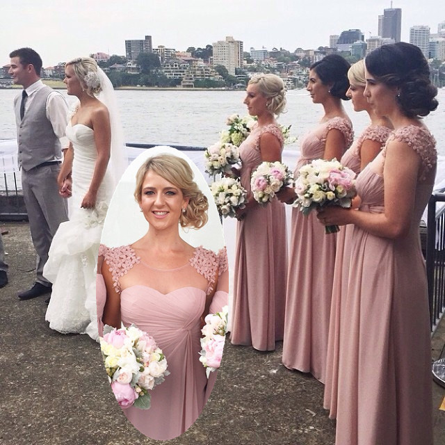 Dusty Pink Bridesmaid Dress eb7ad7403e17