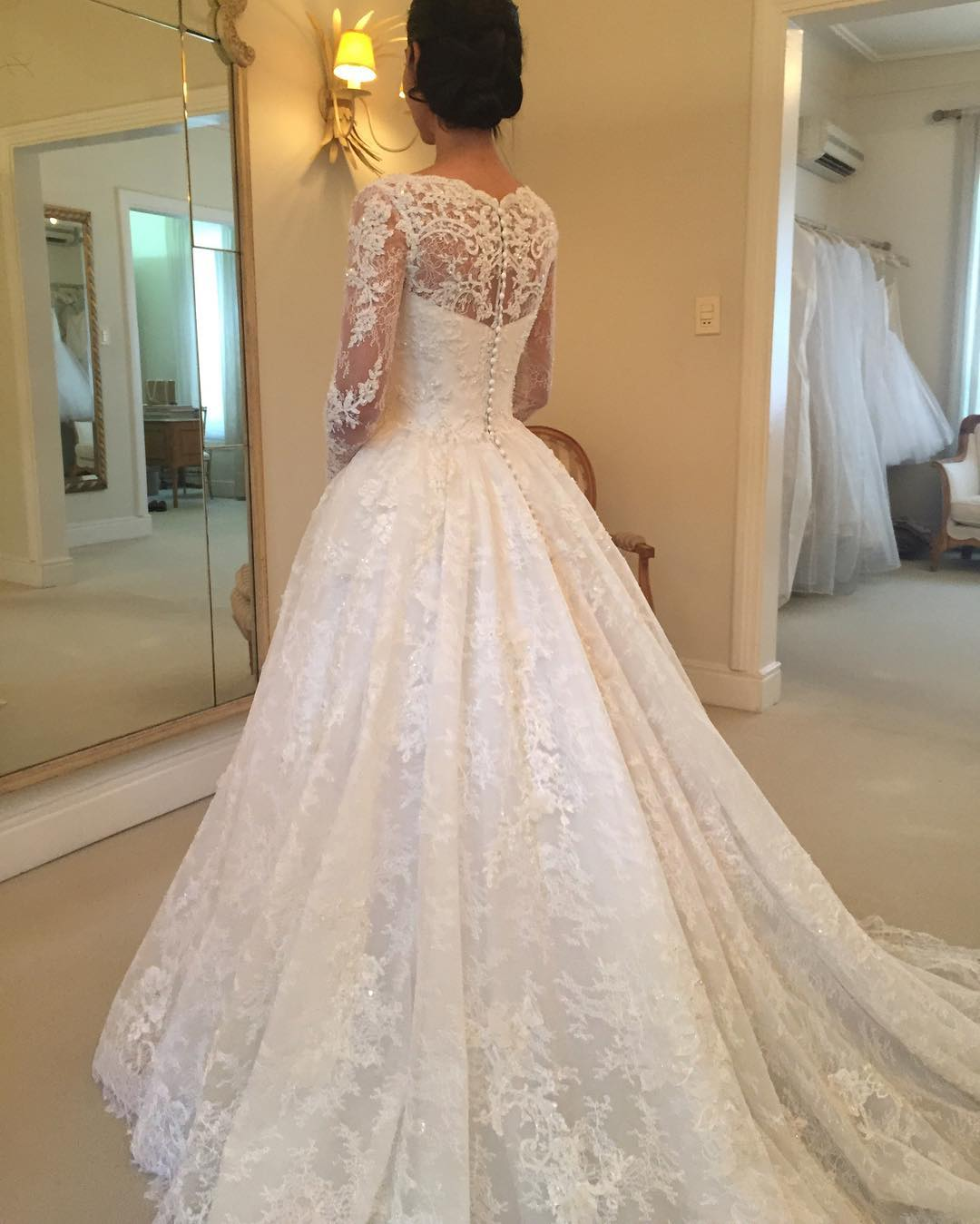 Lace Wedding Dress Long Sleeve Wedding Dress Elegant Wedding Dress Ivory Wedding Dress Simple Wedding Dress Cheap Wedding Dress Wedding Dresses