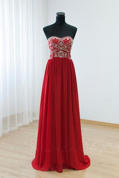 red prom dress, beaded prom dress, chiffon prom dress, crystals prom dress, prom gown, a line prom dress, prom dresses long, 2020 prom dress, cheap prom dress, prom dresses for women