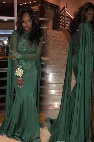 hunter green evening dress, lace applique evening dress, african evening dress, beaded evening dress, evening gown, formal dress, elegant evening dresses, mermaid evening dress, robe de soiree