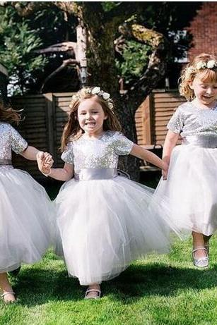 silver flower girl dress, silver sequin flower girl dress, flower girl dresses for weddings, 2020 flower girl dress, cheap flower girl dress, first communion dresses 2019, vestido de festa