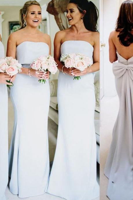 silver bridesmaid dress, wedding party dress, mermaid bridesmaid dress, bridesmaid dresses 2020, strapless bridesmaid dress, wedding party dress, bridesmaid dresses long, wedding guest dress
