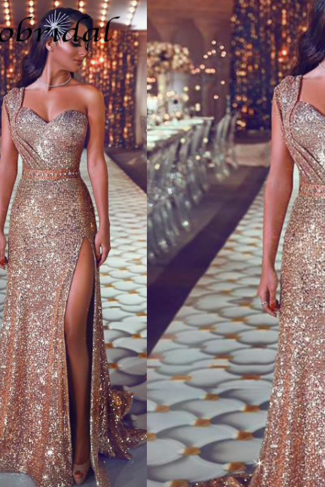 rose gold evening dress, mermaid evening dress, sparkle evening dress, evening dresses 2020, vestido de festa, robe de soiree, elegant evening dress, evening dresses 2019, vestido de longo, formal dress