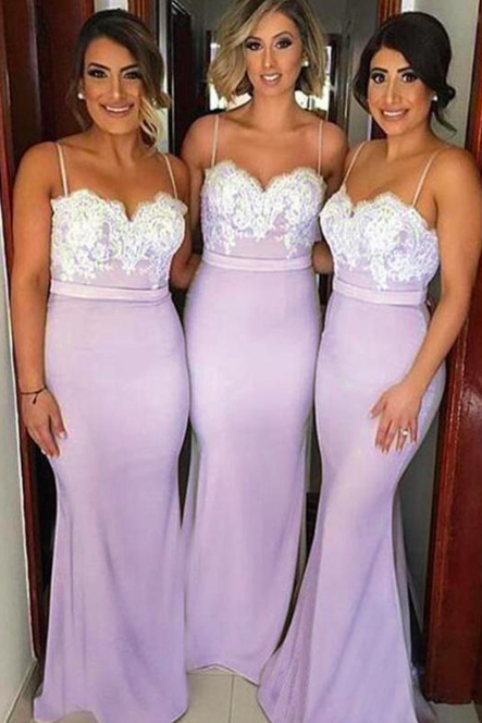mermaid bridesmaid dress, dusty purple bridesmaid dress, bridesmaid dresses long, lace applique bridesmaid dress, cheap bridesmaid dress, elegant bridesmaid dress, wedding party dress