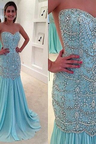 luxury evening dress, blue evening dress, beaded evening dress, crystals evening dress, sweetheart evening gown, formal dress, 2020 evening dress, robe de soiree, mermaid evening dress, evening gowns, women fashion