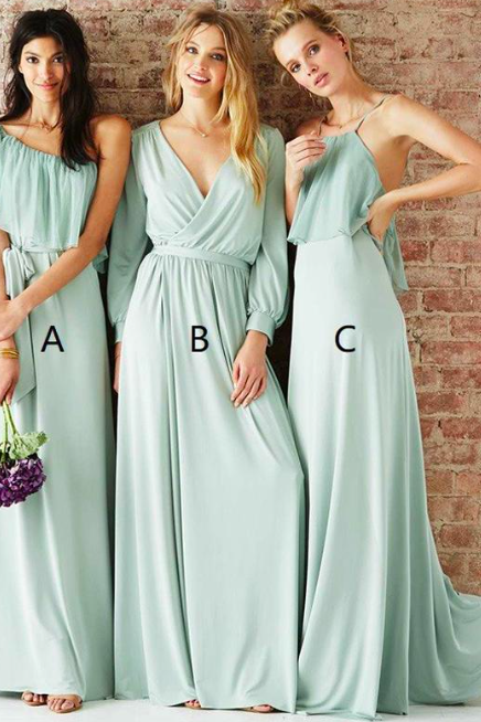 sage green bridesmaid dress, mismatched bridesmaid dresses, bridesmaid dresses long, cheap bridesmaid dress, wedding guest dresses, custom bridesmaid dress, 2020 bridesmaid dress, wedding party dresses
