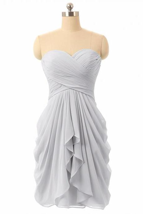 silver bridesmaid dress, bridesmaid dresses short, wedding party dress, wedding guest dresses, bridesmaid dresses 2020, chiffon bridesmaid dress, wedding party dress, robe de soiree, custom bridesmaid dress, bridesmaid dresses short, cheap bridesmaid dress