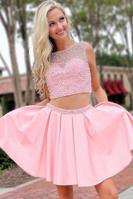 short homecoming dress, homecoming dresses short, pink prom dress, vestido de graduacion, cheap prom dress, robe de soiree, cheap prom dresses, satin prom dress, beaded prom dress, prom dresses 2020