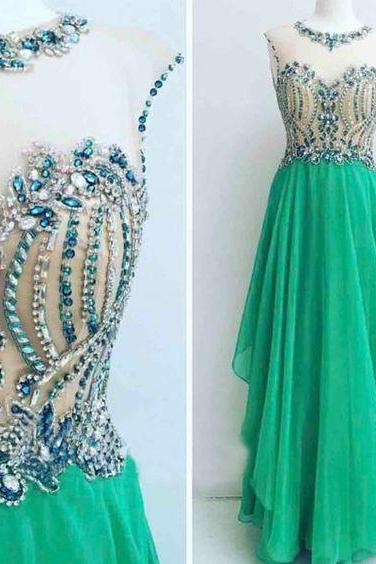 green prom dress, beaded prom dress, cap sleeve prom dress, elegant prom dress, prom gown, chiffon prom dress, vestido de longo, 2020 prom dress, cheap prom dress, evening gowns