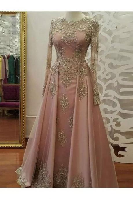 elegant prom dress, vintage prom dress, dusty pink prom dress, robe de soiree, beaded prom dress, prom gown, vestido de festa de longo, 2020 prom dress, evening gown, a line prom dress, prom dresses for women, modest prom dress