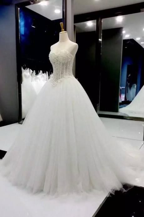 peals wedding dress, beaded wedding dress, wedding dresses for bride, boho wedding dress, sweetheart neckline wedding dress, cheap wedding gown, bridal dresses 2020, vestido de novia, elegant wedding dress, wedding dresses for bride