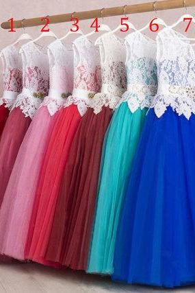 cheap flower girl dresses, lace applique flower girl dress, flower girl dresses for weddings, a line flower girl dress, kids prom dress, royal blue flower girl dress, cute flower girl dress, pageant little girl dresses