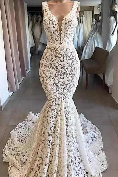 mermaid wedding dress, lace applique wedding dress, wedding gown, cheap bridal dresses, vestido de novia, robe de mariee, elegant wedding dress, wedding dresses for bride, cheap wedding dresses