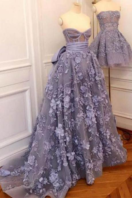 3d flowers prm dress, purple prom dress, lace applique prom dress, real photo, 2020 prom dresses, sweetheart neckline prom dress, prom gowns, ball gown, vestido de festa de longo, vestido de graduacion