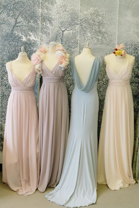 wedding party dress, wedding guest dresses, chiffon bridesmaid dress, long bridesmaid dress, 2020 bridesmaid dresses, elegant bridesmaid dress, cheap bridesmaid dresses, custom bridesmaid dress, pink bridesmaid dress