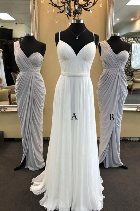wedding party dresses, dresses for wedding party, gray bridesmaid dress, chiffon bridesmaid dresses, maid of honor dresses, vestido de novia, cheap bridesmaid dresses, 2020 bridesmaid dress, mismatched bridesmaid dresses