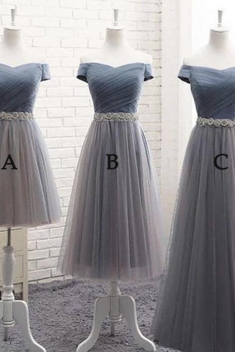 gray bridesmaid dresses, tulle bridesmaid dresses, 2021 bridesmaid dresses, wedding party dresses, robe de soiree, cheap bridesmaid dresses, wedding guest dresses